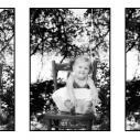 Jeune fille photographiée à l'extérieur